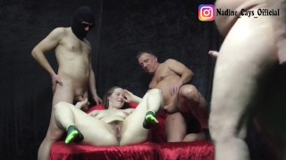 Private Mud Sliding Gang Bang with Hairy Cunt - Uncut Part II