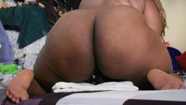 Ebony African BBW Solo Action till Squirts