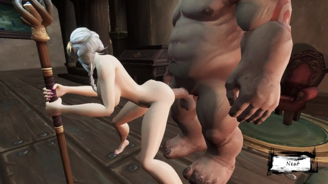 Cycle of the asian longhorned - Sex with a horned monster orc fucked in all holes warcraft, 3d