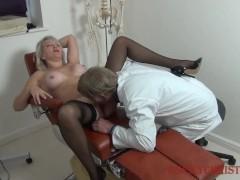 Cougar Christie seducing her doctor
