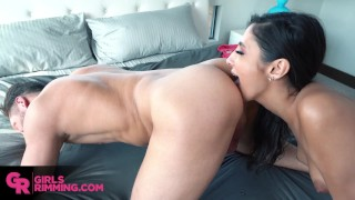 GIRLSRIMMING - Incredible rimming and hard fuck with sexy Gianna Dior