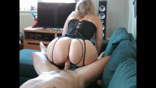I fuck the big ass of a PAWG MILF in sexy lingerie! French Couple Amateur!