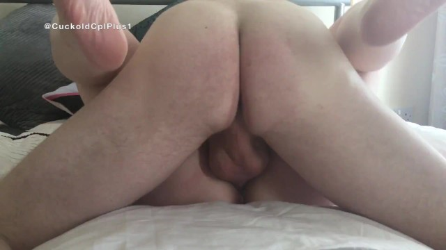 Wanking while i watch you orgasm Creampied by bull while cuckold husband wanks