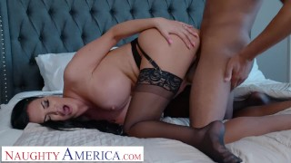 Naughty America - Jasmine Jae Fucks her stepson's friend for being nosy