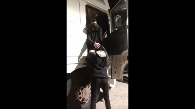 Truck driver crash watching porn Real amateur wife public blowjob stranger truck driver