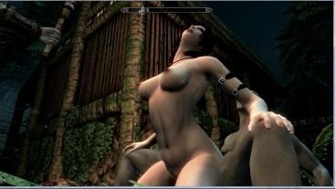 Hot sex with Lara Croft in Skyrim | Sex Game, Gamer, 3D