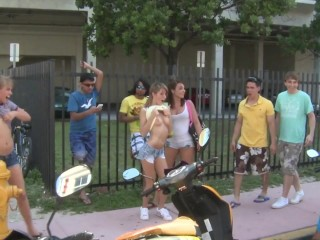 COLLEGE RULES - Young Students On Spring Break, Getting Naked In Public