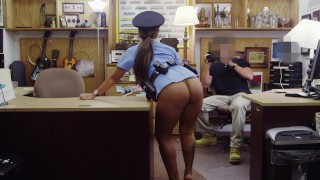 XXX PAWN – Big Booty Latin Police Woman Desperate For Cash Money