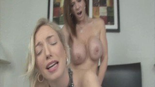 Sara Jay and Zoe Parker in hot lesbian face sitting strapon domination sex