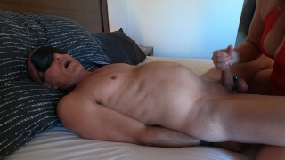 Spat his own cum in his mouth after I cuffed him & fucked him - MIN MOO