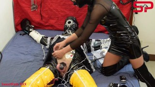 S03E01 Dominatrix Tortures Tied Up Sissy w/ Extreme Electricity DEMO