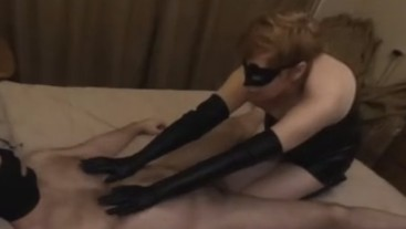 MILF nipple job with gloves and cock licking 360 VR