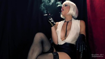 The Smoking Boss' slave - Femdom Smoking Fetish - Young Goddess Kim