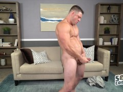 Sean Cody - Muscular hunk Dougie shows off big dick solo