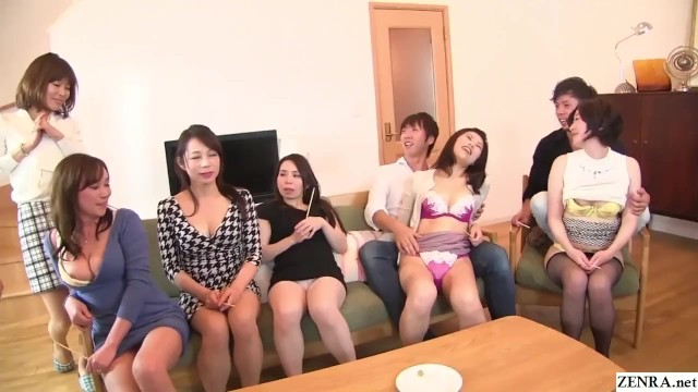 Asian fishbowl lineup Japanese milf party thong lineup and cfnm handjobs