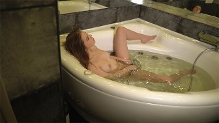 Caught StepSister masturbating in the Jacuzzi! Anal sex with StepSister