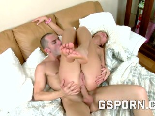 Beautiful blonde fucked exhausting in her flawless ass
