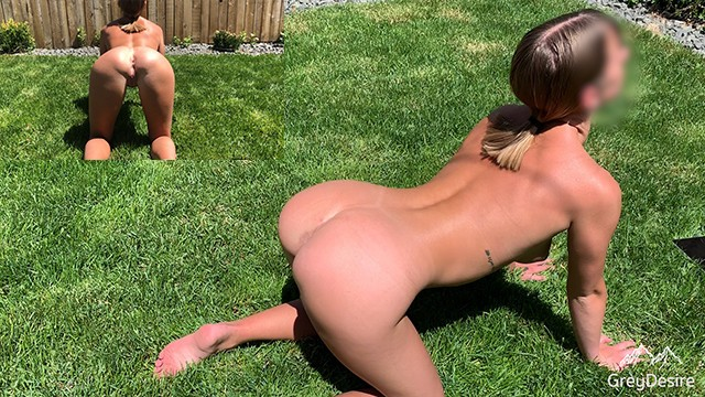 Nude guy yoga Outdoor backyard genuine nude yoga - no fap challenge