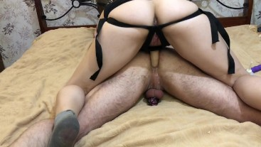 PUNISHED WITH A STRAP-ON AND DID NOT LET HIM FINISH