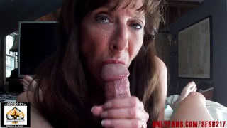 Sexy Granny Swallows After Perfect Blowjob