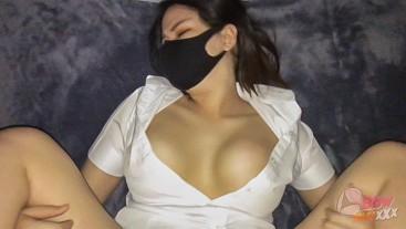 Thai Big tits in University nice uniform