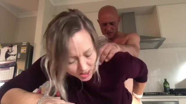 Milf with huge having sex galleries Busted having a sneaky fuck in the kitchen pornfails - min moo