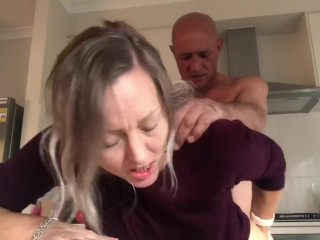 Busted having a sneaky fuck in the kitchen!! #pornfails - MIN MOO