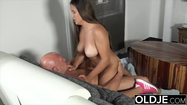 Roung sex Old and young sex starts sensual and ends with hot cumshot