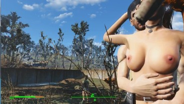 Sex on the farm. Worker actively fucks mistress | Fallout 4 Sex Mod