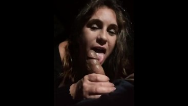 Sucking dick in the car, bust on my face