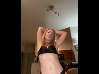 Quick Strip Tease Dance While Wearing Boots
