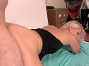 MILF shocked by huge facial, fucked hard by big cock