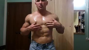 Muscle honey rubbing sweet guy