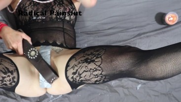 Extreme Pussy & Clit Torture For Submissive Painslut Wax & Toilet Brush