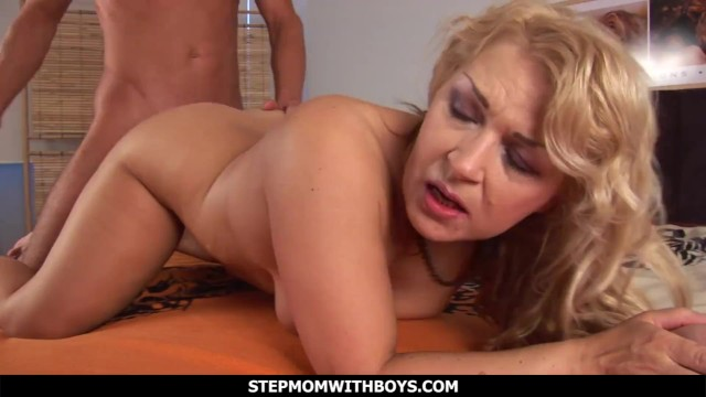 Blonde Busty Mature Stepmom Fucks Stepson
