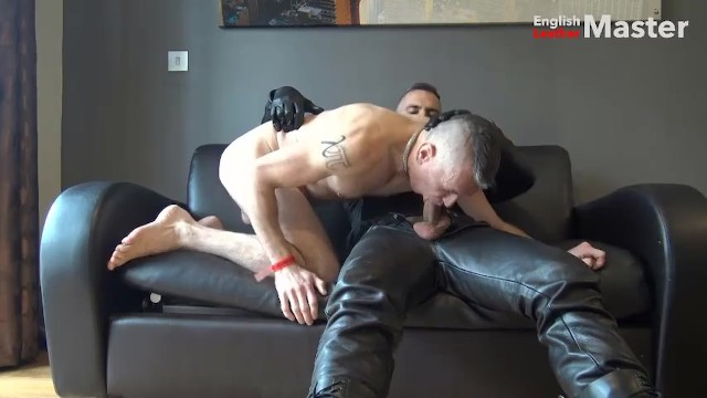 Gay sex leather gallery Leather and cock worship then fucking my boy feeding him my cum preview