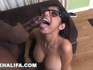 MIA KHALIFA – Big Black Cock Depositing Hot Cum On My Tongue, So Yummy