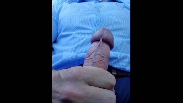 Gay suit fetish Hot daddy, cums all over his suit in public car park