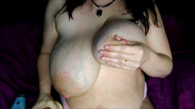Veiny boobs tumbnails My huge veiny milkers with giant areolas titty fucked with big dildo