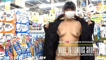 Emiri Public Nude Challenge S01-02 At Crowded Discount Store