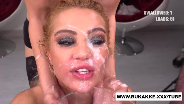 Female to male cum kiss Cherry kiss totally cum covered - bukkake.xxx