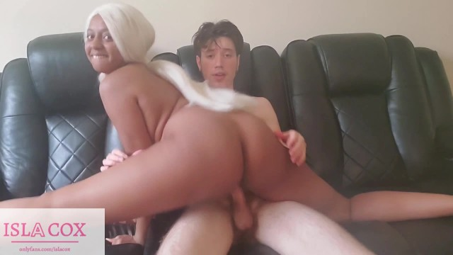 Free huge dick thumb galleries Cute ebony islacox almost taps out while taking huge white cock