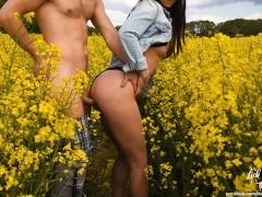 Spontaneous fuck in a field! Public Sex! - Amateur Couple LickMyLucy - S2E1