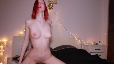 FULL! Teen step sister made a gift for her brother, riding him until he cum