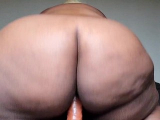 Bouncing my fat ass on your dick!!!