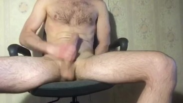 Jerking off after hard day