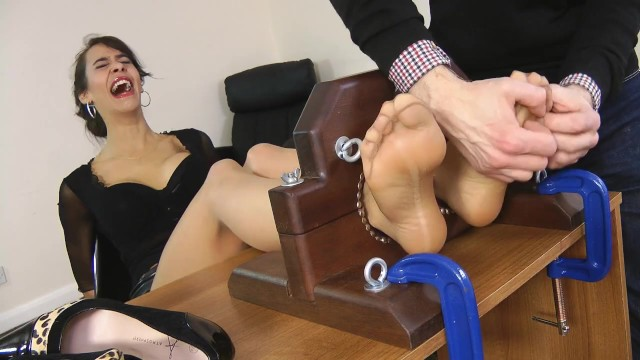 Bdsm partys in the uk Hot secretary angelina teases gets a relentless tickle session
