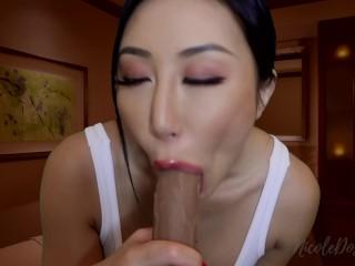 Asian Masseuse Gives Happy Ending at Massage Parlor JOI