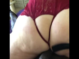 Stepson and Hot Stepmom: Her first deep asshole fuck by BBC
