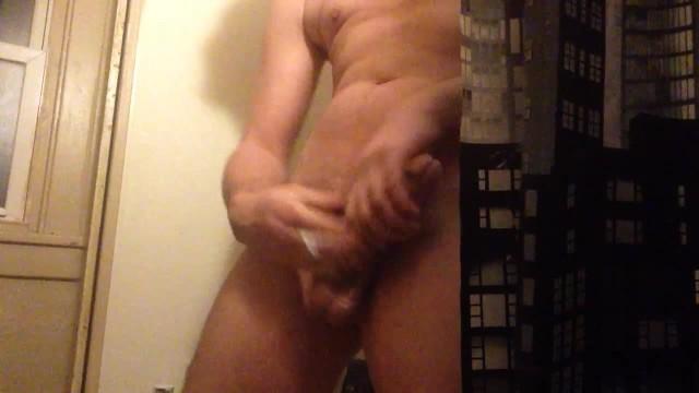 Gay jerking dick Shower jerk with cum shot